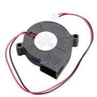 NI5L 5015S 5V 0.1-0.3A Black Brushless DC Cooling Blower Fan 50x15mm