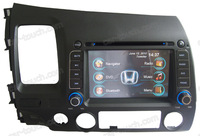 2 din dual dvd player auto stereo car multimedia headunit for Honda Civic