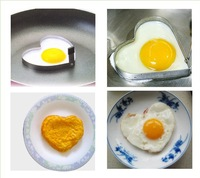 100pcs/lot heart-shaped omelette die egg pancake rings HO069