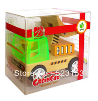 wooden  engineer  vehicle cars fork lift gift toys  in gift packing box