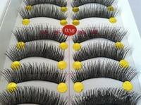 Best False Eyelashes Full Strip Lashes Black Synthetic Fake False Eyelashes Thick Cross Long Eyelashes 10pairs