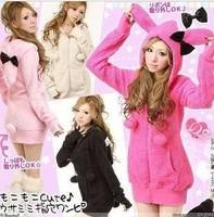 Free shipping 2013 new winter  women's vivi rabbit ear hats sweatshirt outerwear/coat/hoodies
