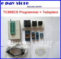 Updated 5.91 new version TL866cs USB Programmer + 7pcs adapters, support 13143+ IC AVR PIC Bios 51 MCU Flash, win7 64bit