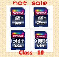 Retail Wholesale Full Capacity Transcend SDHC Class 10 C10 SD Memory Card  4GB, 8GB,16GB,32GB, sdhc memory cards  Free ship