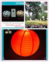 48 LED White SUBMERSIBLE Wedding Party Tea Light Vase Base Floralytes remote