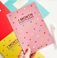 Freeshipping wholesale Korean stationery Cartoon Notepad korean school supplies composition work planer workbook schedule book