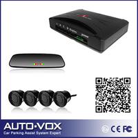 2013 Car led parking reverse backup radar system with rear view mirror monitor +Alarm Beep +4 sensors freeshipping wholesale