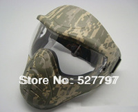 New arrival Full face Anti-fog Green Camo snake color outdoor CS Airsoft Paintball games mask Very COOL