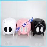 20pcs/lot Free Shipping! Pig speaker audio mini speaker mobile audio mini speaker