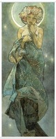 100% handmade famous painting reproduction The Moon by mucha