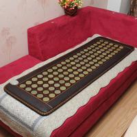 Free shipping for jade germanium stone sofa heated pad heated cushion tourmaline health heated sofa cushion  heat seat pad