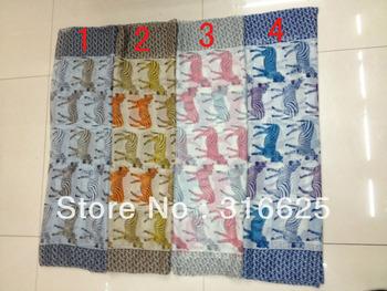 Wholesale Fashion newest ladies colourful zebra  print  scarf