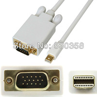 "FREE SHIPPING Thunderbolt Mini Displayport DP TO VGA Male Cable Adapter For Macbook Pro 15 13"" iMac 6ft"