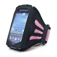The new Durable high-grade grid Armband for iphone 4 4s 5 5s arm band 20pcs/lot free shipping