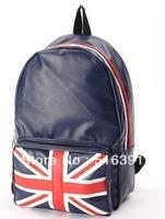 UK flag backpack pu leather school bag flag  travel bag free shipping
