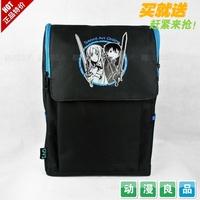 Sword Art Online School Bag High Quality Nylon Backpack Anime Shoulder Bag +1 Card Sticker Free Shipping