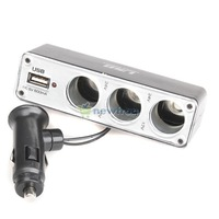 USB 3 Car Cigarette Lighter Socket Splitter Charger S7NF