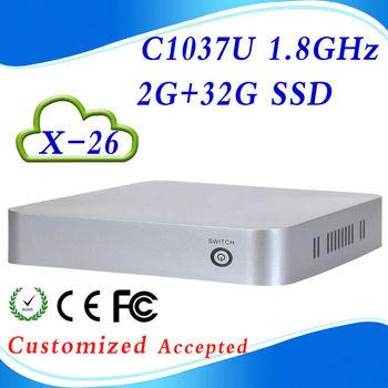 ULP X-26 2G RAM 32G SSD linux micro pc computer desktop C1037U 1.8GHz Dual-core support wifi
