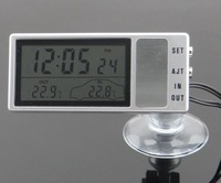 2013 car sucker electronic clock suction cup cupsful electronic thermometer clock