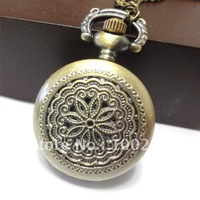 LOOk it,free shipping! /mixed Antique Bronze Mechanical Locket Watch pocket,more quantity less price