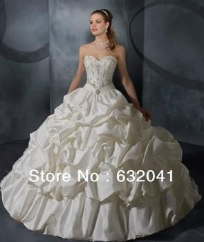 Buy 2013 Ivory Sweetheart Neckline Nail Bead Bubbles Show Bind Trailing Diamond Castle Wedding Dress Free Shipping HK0290