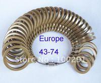 Free ship!!! Europe 43-74 gold Plstic Ring Sizer Mandrel Finger Sizing