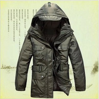 2014 Autumn and winter Double thickening down jacket,brand waterproof casual winter jacket,plus size military outdoor coat