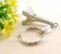 free  shipping !!!    wholesale   50pcs    Mini the Eiffel Tower key chain keyring