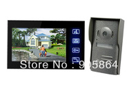 promotion fast and free shipping large screen cheapest touch button 7inch wired video door phone