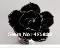 Hot Sale 6pcs Black Rose Flower Handles Cabinet Ceramic Knobs Door Kids Dresser Pulls Closet Knobs Kids Dresser Kitchen Room