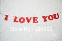 "New Arrival Wedding vintage theme ""ILOVEYOU"" Wedding Banner"