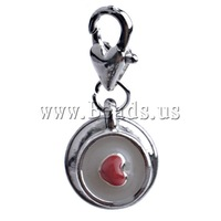 Free shipping!!!Zinc Alloy Lobster Clasp Charm,Brand, Coin, enamel, nickel, lead & cadmium free, 30x13x11.50mm