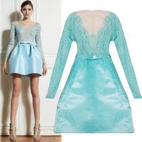 Fashion new design 2013 autumn high quality of perspectivity ruslana korshunova lace noble three-dimensional  dress skirt