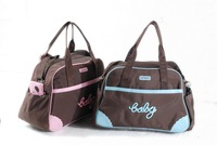 Hot Selling Free shipping Environmental lovely diapers  microfiber pink blue tote carter baby diaper bag Mommy Nappy Bag