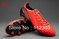 Free Shipping Red Leather Men's Football Shoes Best Quality 9Colors US6.5-12Size