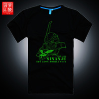 Luminous t-shirt uc wynca mentri 100% men's casual cotton clothing T-shirt short-sleeve shirt