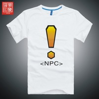 T-shirt npc personalized wow men's clothing short-sleeve T-shirt clothes
