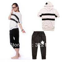 Summer Women sport suit Casual costume Tracksuit 2pcs set Shirt+Short pants Korean style Brand clothing sets