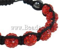 Free shipping!!!Rhinestone Shamballa Bracelets,Jewellery, Clay, with Wax Cord & Non-magnetic Hematite, handmade