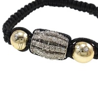 Free shipping!!!Zinc Alloy Shamballa Bracelets,Supplies For Jewelry, with Clay & Wax Cord & Non-magnetic Hematite