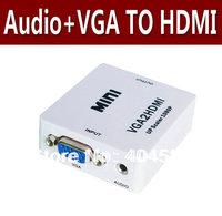 Wholesale MINI VGA to HDMI Converter box with audio + Free Shipping