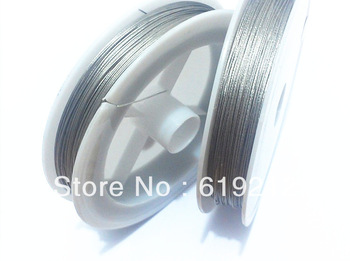 0.45mm  2Rolls/lot  Stainless Steel Tiger Tail Wire for Chunky Necklace / Bracelet
