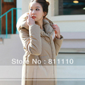 Trend Knitting  2013 winter New women's coat Cotton Wadded jacket thicken slim Dust coat for women Overcoat S-XXL