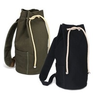 2013 male drawstring backpack canvas bucket bag outdoor basketball bag casual bag student bag