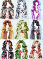 [9Colors]Women's Scarf Ladies' Silk Feel Polyester Shawl Wrap 160x50cm