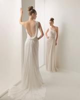 390-1lf Free Shipping One Shoulder New Custom made Royal Chiffon Flowers A-Line Evening Dress Prom dress