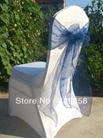 Free Shipping 100pcs Tea Color Organza Sash Wedding Chair Sashes Chair Bow Ribbon