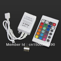24Key IR Remote Controller Control For SMD5050 3528 RGB LED Strip Light 12v +Free connector LD44