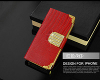 Luxury Leather Mobile Phone Case for iphone 4 4s 5