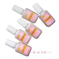5 x 10g  Pink Nail Fast Drying Beauty False Art Decorate Tips Acrylic Glue M3AO